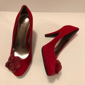 BAMBOO Red Pump